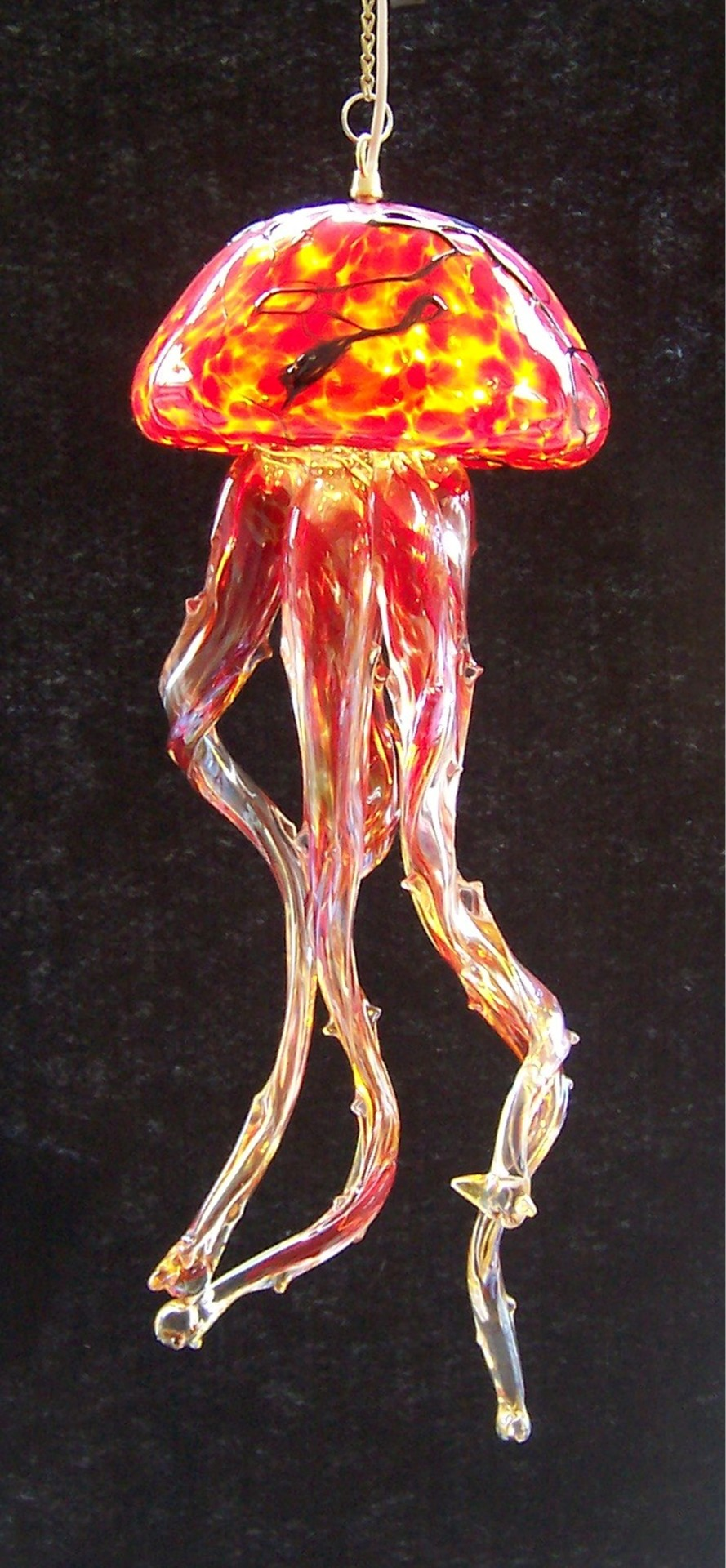 Red Hot Jelly Fish Chandelier