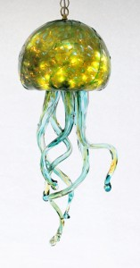 Silver Green Jelly Fish Chandelier