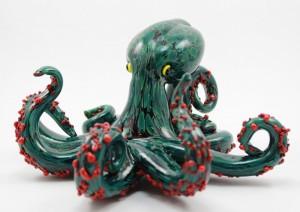 Silver Green Octopus