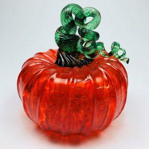 Transparent Orange Pumpkin with Green Stem
