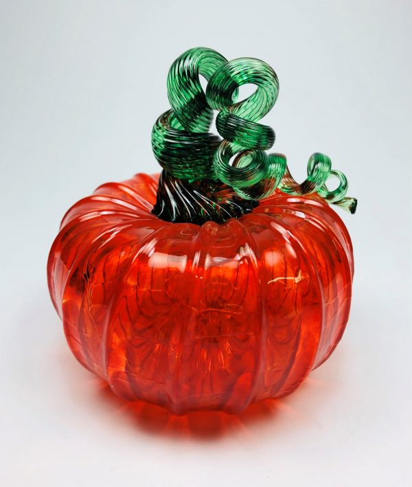 Transparent Orange Pumpkin with Green Stem